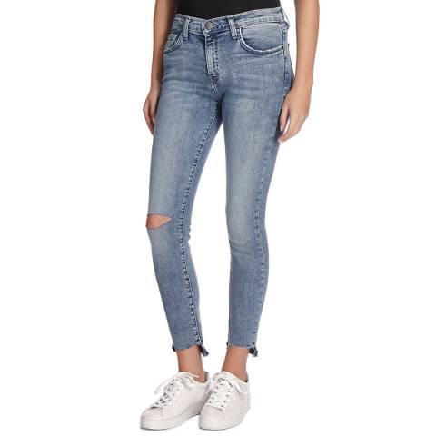 Current Elliott Blue High Waist Stiletto Jean