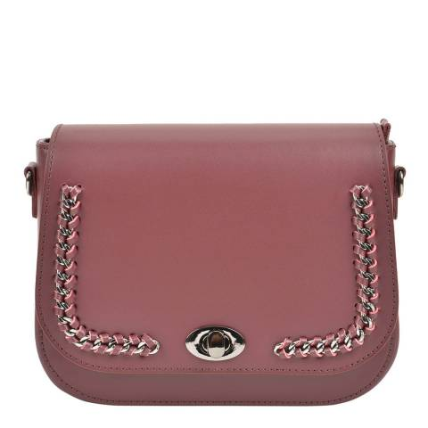 Renata Corsi Wine Leather Shoulder Bag