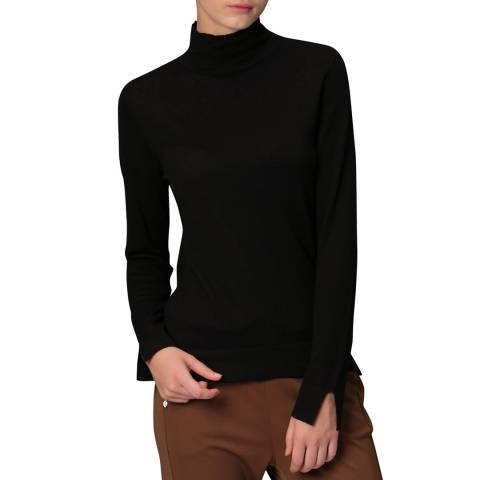 Manode Black Cashmere Blend Knitted Pullover