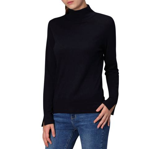 Manode Navy Cashmere Blend Knitted Pullover