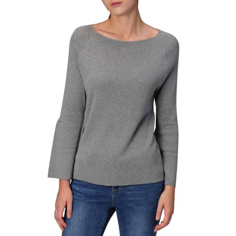 Manode Light Grey Cashmere Blend Knitted Pullover