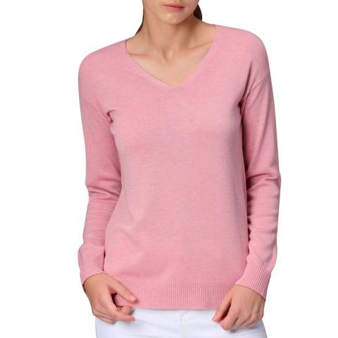 Manode Pink Cashmere Blend Knitted Pullover