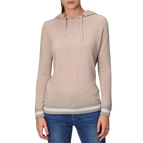 Manode Beige Combo Merino Wool/Cashmere Blend Knitted Pullover