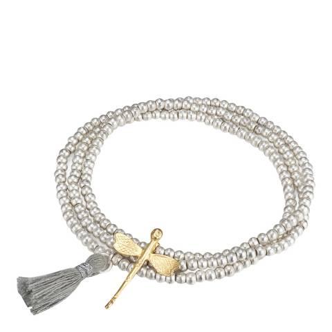 Tassioni Silver Bead Dragonfly Bracelet