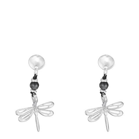 Tassioni Silver Dragonfly Drop Earrings