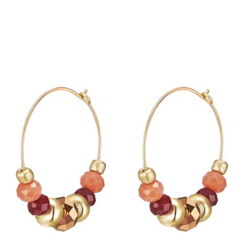 Tassioni Gold Multi Crystal Hoop Earrings