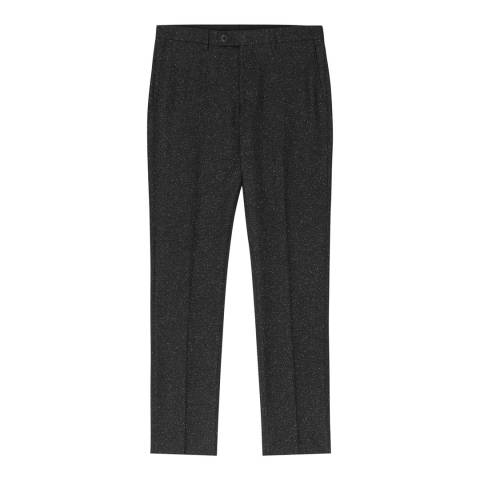 Reiss Charcoal Function Salt And Pepper Trousers