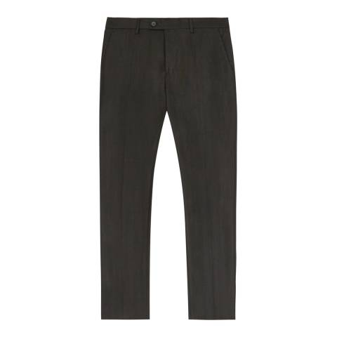 Reiss Green Douglas Slim Wool Suit Trousers