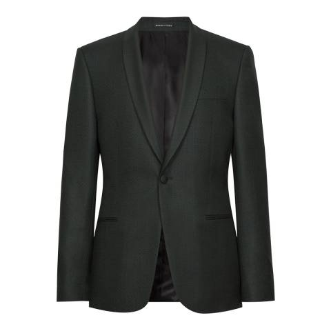 Reiss Green Hefner Shawl Wool Suit Jacket