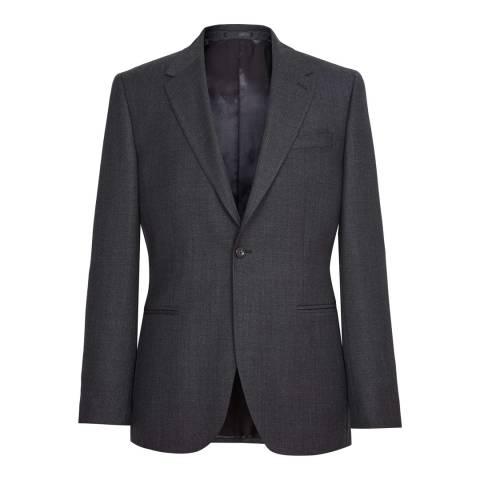Reiss Dark Grey Wool Blackmore Slim Suit Jacket