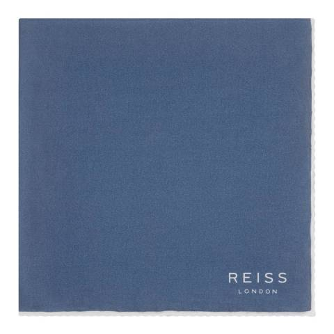 Reiss Blue Horner Silk Pocket Square