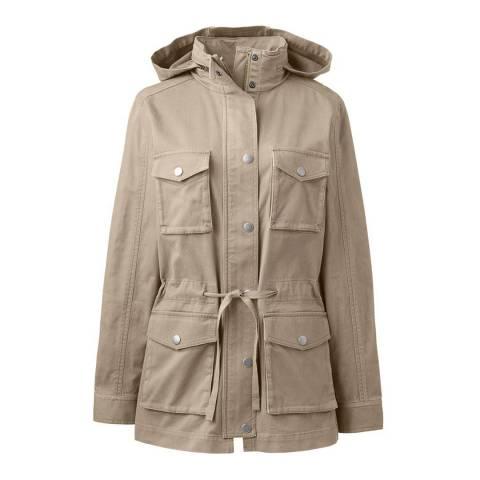 Lands End Khaki Military Style Jacket