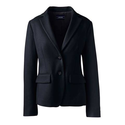 Lands End Black Tailored Blazer