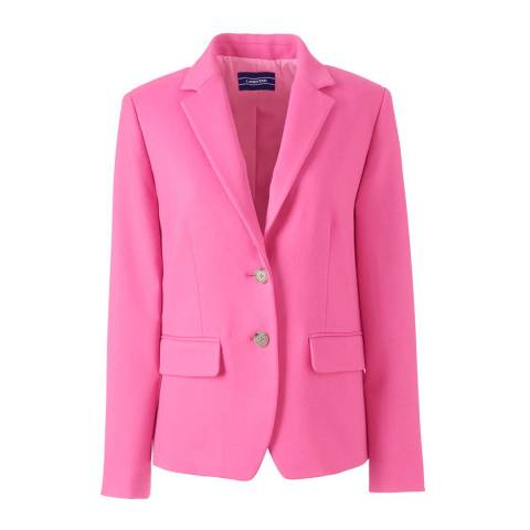 Lands End Pink Tailored Blazer