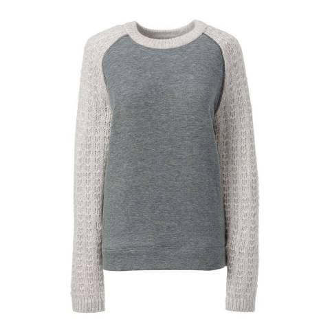 Lands End Pewter Soft Leisure Fleece Sweatshirt