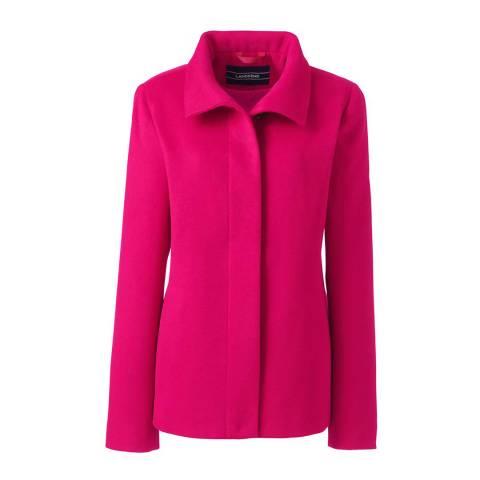 Lands End Pink Stand Collar Jacket