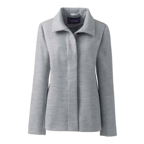 Lands End Gray Stand Collar Jacket