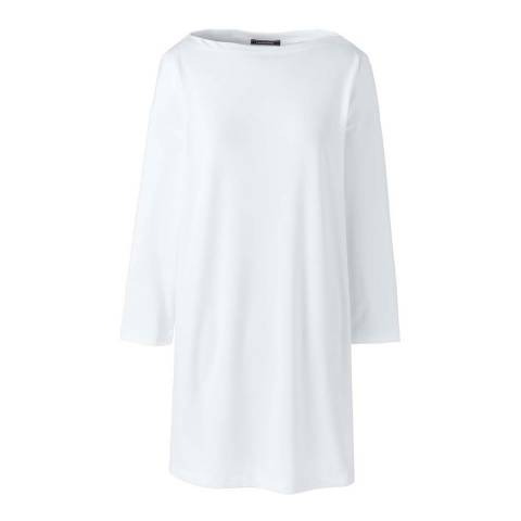 Lands End White Matte Jersey Tunic
