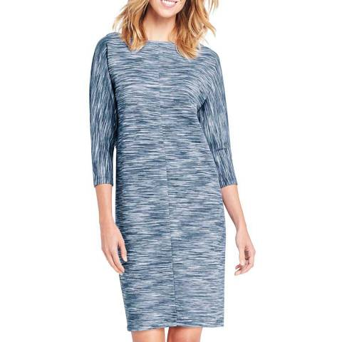 Lands End Dusty Blue Dolman Sleeve Tee Dress