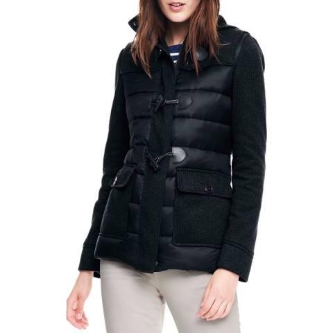 Lands End Black Hybrid Duffle Coat