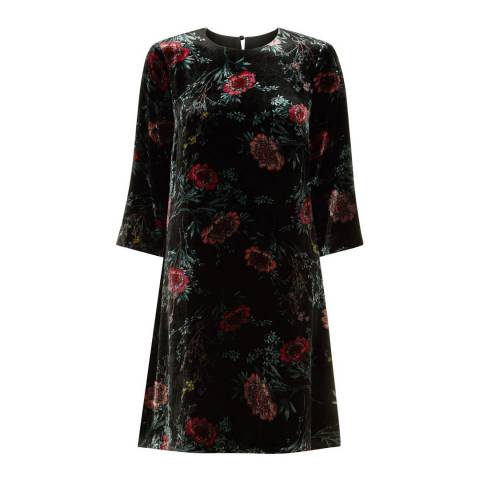 Hobbs London Black/Multi Agnes Printed Dress