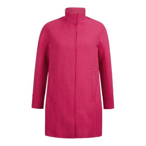 Hobbs London Bright Pink Harwood Coat