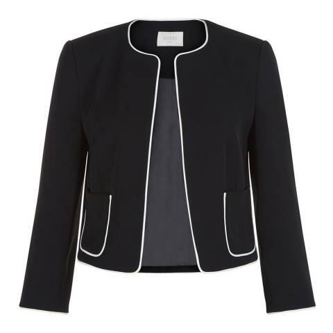Hobbs London Black/Ivory Cressida Jacket