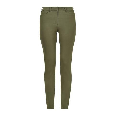 Hobbs London Khaki Amanda Stretch Jeans