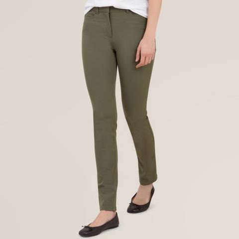 Hobbs London Khaki Amanda Stretch Jeans