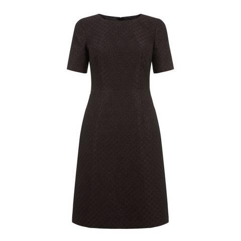 Hobbs London Black Multi Shimmer Wolsey Dress