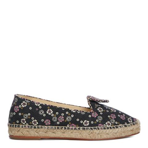Orla Kiely Black Andrea Espadrille Shoes