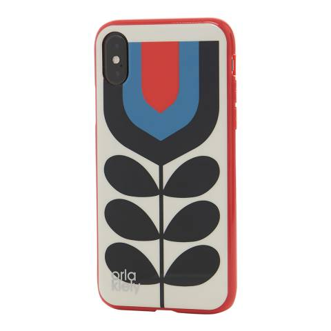 Orla Kiely Tulip Pattern iPhone X Protective Case