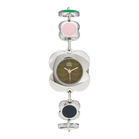 Orla Kiely Poppy Link Watch Silver - 18