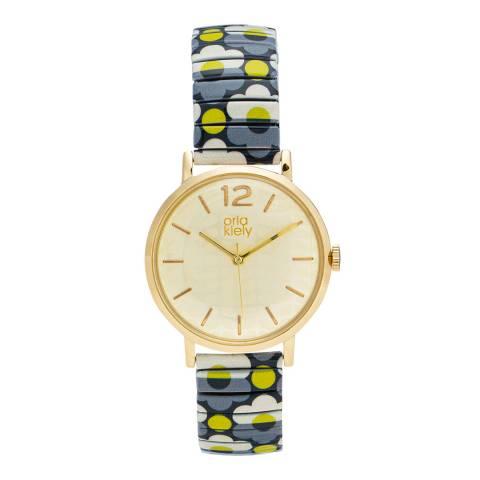 Orla Kiely Pop Watch Gold Large Case - 18
