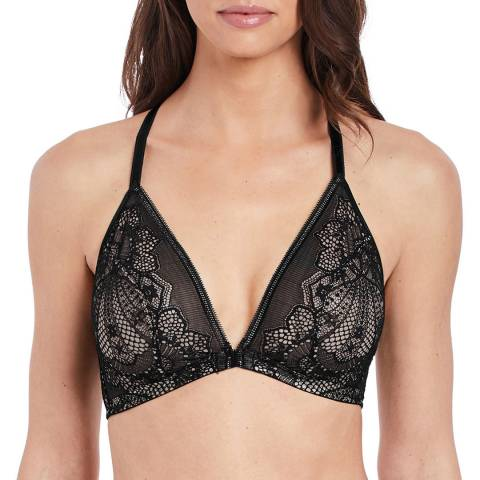 Wacoal Black Take The Plunge Front Fastener Bralette
