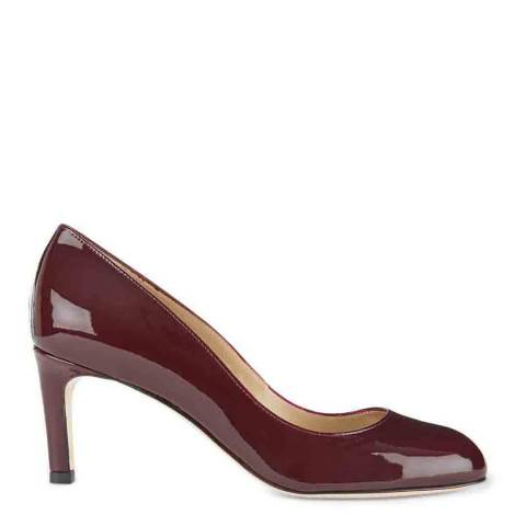 Hobbs London Mulberry Patent Leather Sophia Courts
