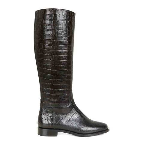 Hobbs London Black Taylor Leather Long Boots