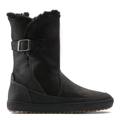 Birkenstock Black Suede Leather Woodbury Boots