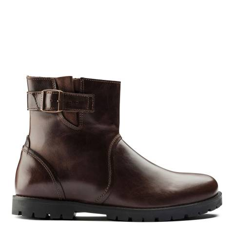 Birkenstock Espresso Leather Stowe Buckle Ankle Boots