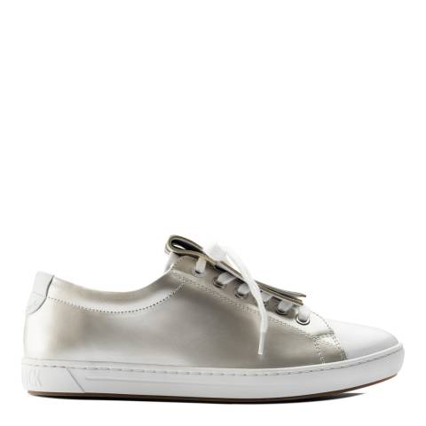 Birkenstock Off White Patent Leather Arran Fringe Sneakers