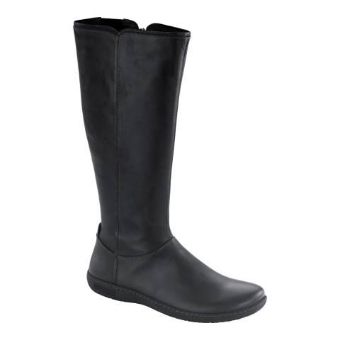 Birkenstock Black Leather Farmington Riding Boots