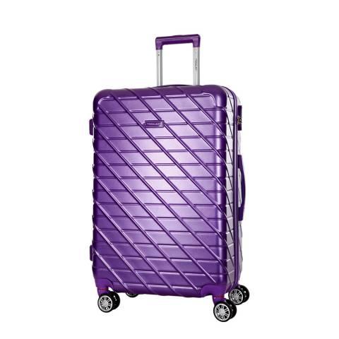 Travel One Purple Leiria 8 Wheel Suitcase 56cm