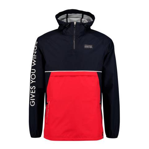 Red Bull Racing Men's Navy Pull Over Rain Jacket
