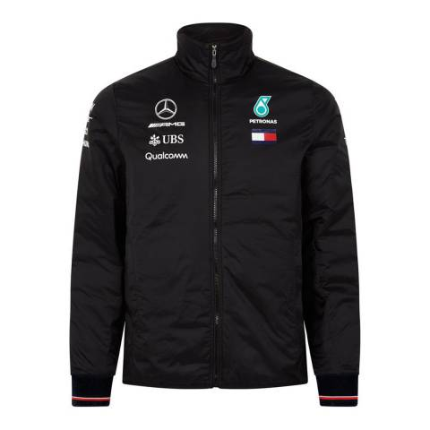 Mercedes AMG-Petronas Motorsport Men's Black Lightweight Padded Jacket