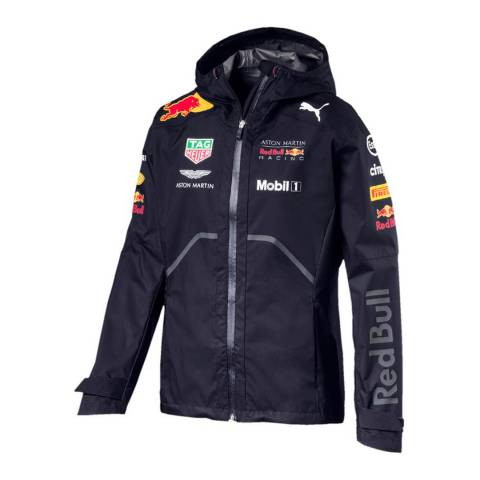 Red Bull Racing Men's Navy Team Rain Jacket