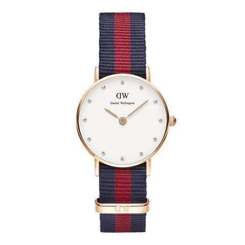 Daniel Wellington Ruby Red / Navy Classic Oxford Watch 26mm
