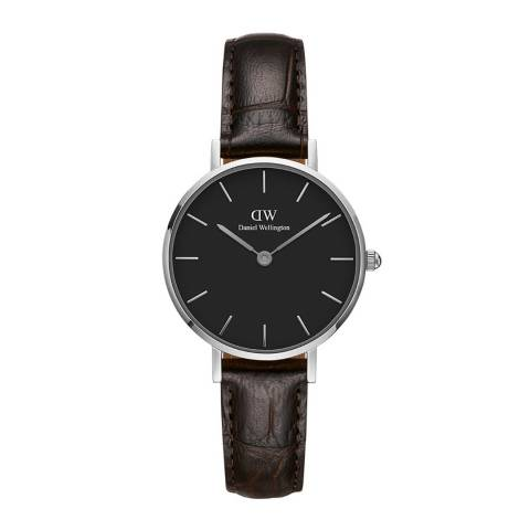 Daniel Wellington Dark Brown / Black Classic Petite St Mawes Watch 28mm