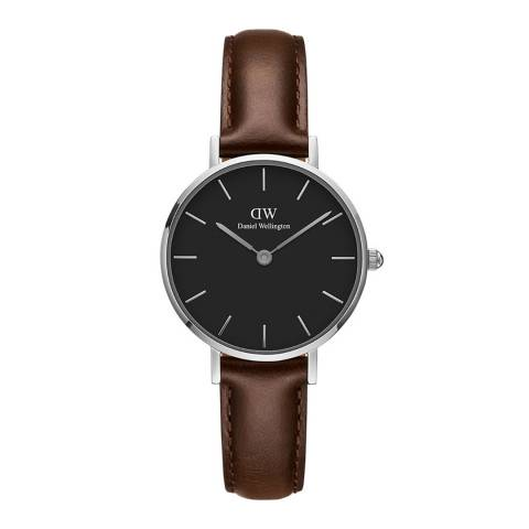 Daniel Wellington Brown / Black Classic Petite St Mawes Watch 28mm