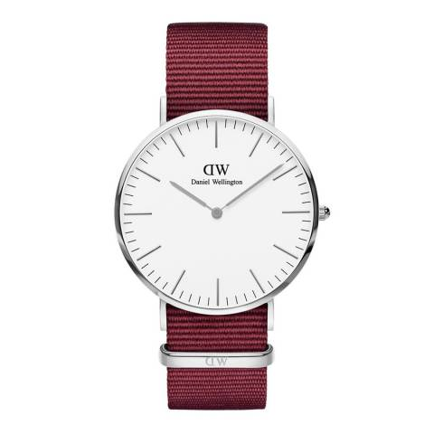 Daniel Wellington Ruby Red / White Classic Roselyn Watch 40mm