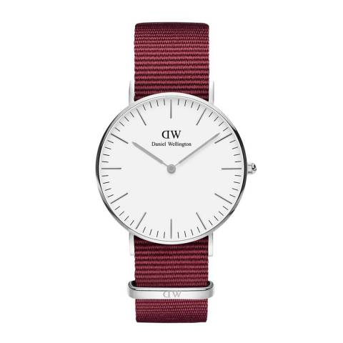 Daniel Wellington Ruby Red / White Classic Roselyn Watch 36mm